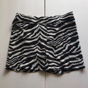 justice zebra print spandex shorts